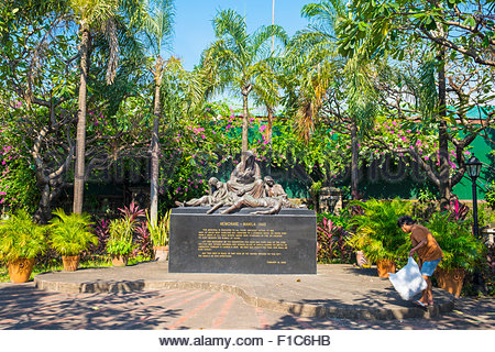 Memorare Manila Monument on Plaza de Santa Isabel dedicated to innocent victims killed during the battle of Manila, - Stock Photo