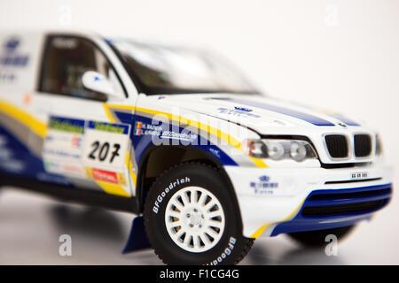 Model BMW X5 Rally X-Raid racing car - Stock Photo
