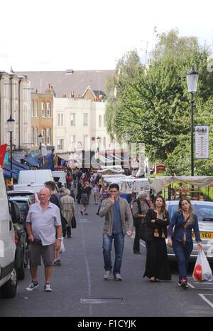 Portobello Road Notting Hill London August 2015 - Stock Photo
