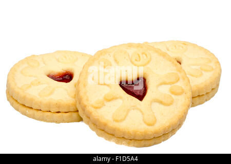 biscuits cut out or isolated on a white background, UK. - Stock Photo
