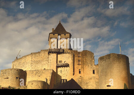 Chateau de Casteneau-la-Chapelle, Dordogne Region, France - Stock Photo