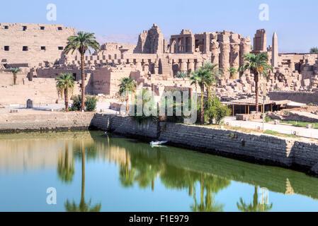 Karnak Temple, Luxor, Egypt, Africa - Stock Photo