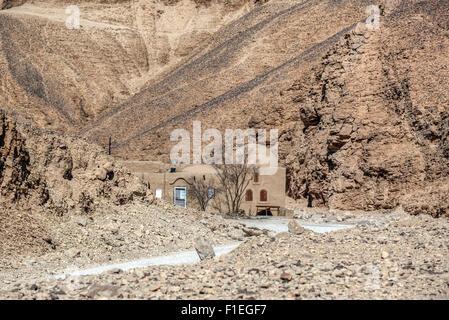 house in the desert near Luxor, Egypt, Africa - Stock Photo