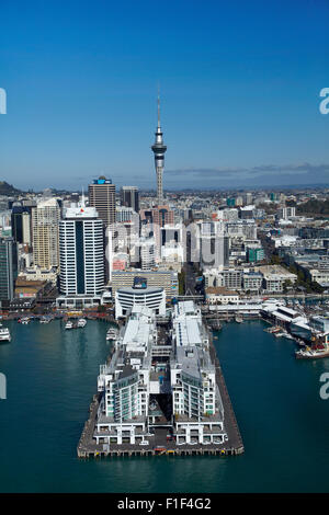 hilton hotel princes wharf sky tower and auckland waterfront stock photo royalty free image. Black Bedroom Furniture Sets. Home Design Ideas