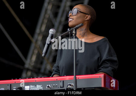 Laura Mvula Live at Victorious Festival 2015 - Stock Photo