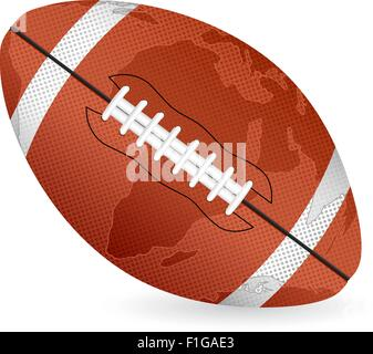 World map football ball on a white background. Vector illustration. - Stock Photo