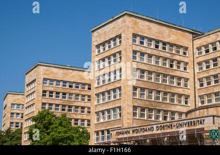 The IG Farben building on campus Westend of the Johann Wolfgang Goethe University Frankfurt - Stock Photo