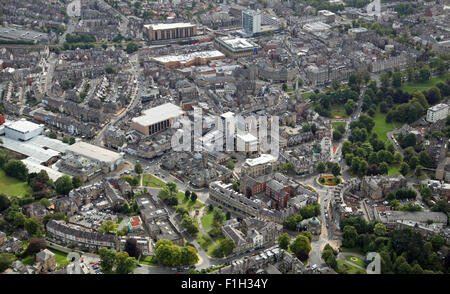 aerial view of Harrogate in North Yorkshire, UK