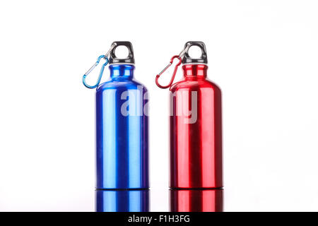 steel bottle isolated on white background - Stock Photo