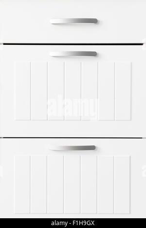 White drawers - Stock Photo