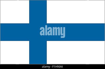 Fahne: Finland/ flag: Finland. - Stock Photo