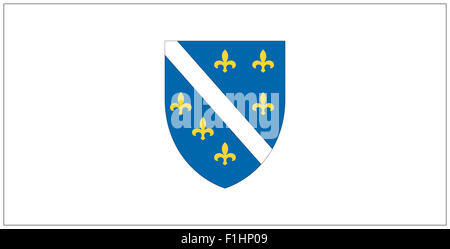 Fahne: Bosnien-Herzegovina/ flag: Bosnia. - Stock Photo