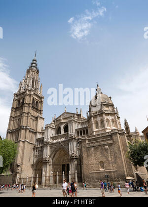 The Primate Cathedral of Saint Mary of Toledo, (Catedral Primada Santa María de Toledo), Toledo, Castilla-La Mancha, - Stock Photo