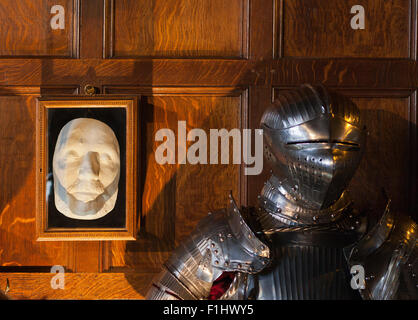 Suit of armour in Warwick Castle Museum - Stock Photo