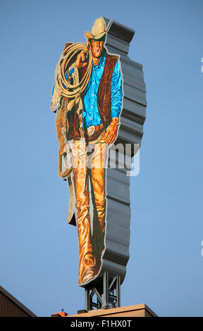 Werbung fur 'Marlboro' mit dem 'Marlboro Mann', Berlin. - Stock Photo