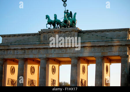 Pariser Platz mit dem Brandenburger Tor, Berlin-Mitte. - Stock Photo