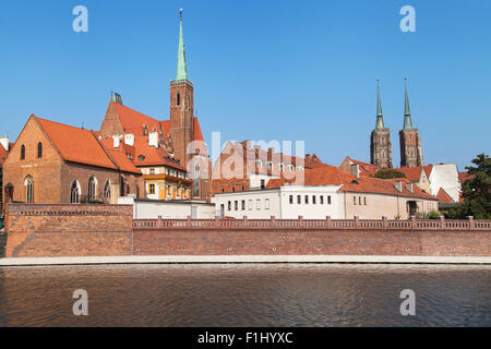 Cathedral Island in Wroclaw, Poland. - Stock Photo