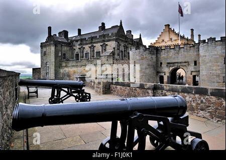 Cannons at Stirling Castle, Stirlingshire, Scotland, UK