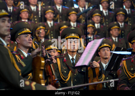 Moscow, Russia. 01st Sep, 2015. Concert of the National Choir of the Democratic People's Republic of Korea in Moscow - Stock Photo