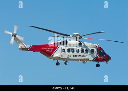 Sikorsky S-92A Coastguard SAR Helicopter (G-MCGI) based at Inverness.  SCO 10,074. - Stock Photo
