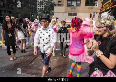 The artist Sebastian Masuda arrives at the 'Time after Time Capsule' ceremony in Dag Hammarskjold Plaza in New York - Stock Photo