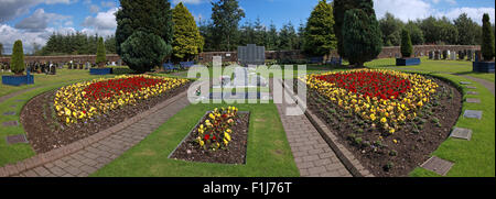 Wide shot of the Lockerbie PA103 memorial,in summer,Scotland - Stock Photo