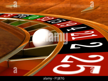 3d render of closeup detail from casino roulette - Stock Photo