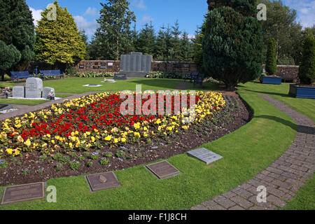 Lockerbie PanAm103 In Rememberance Memorial Garden,Scotland - Stock Photo