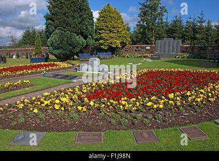 Lockerbie PanAm103 In Rememberance Memorial Garden,Pano,Scotland - Stock Photo