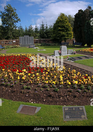 Lockerbie PanAm103 In Rememberance Memorial Garden, side View, summer in Scotland - Stock Photo