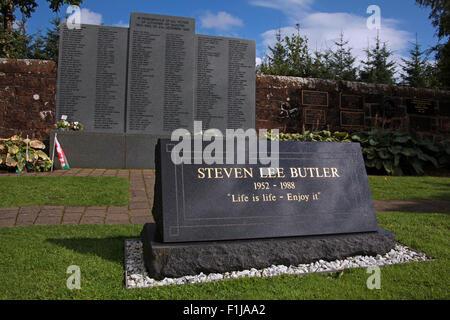 Lockerbie PanAm103 In Rememberance Memorial Steven Lee Butler - Life Is Life Enjoy It,Scotland - Stock Photo