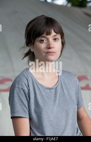 Eliza K. Robertson, the Canadian writer at the Edinburgh International Book Festival 2015. Edinburgh, Scotland. - Stock Photo