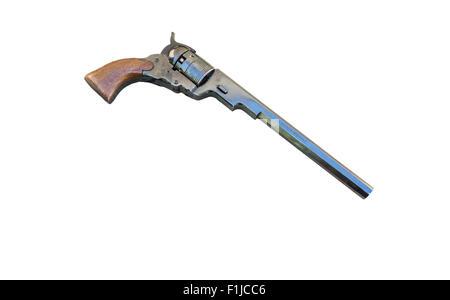 Antique Paterson revolver made by F. lli Pietta in Italy. - Stock Photo