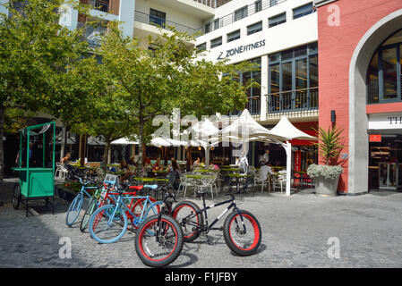 Courtyard at Cape Quarter Shopping Centre, Somerset Road, Cape Town, Western Cape Province, Republic of South Africa - Stock Photo