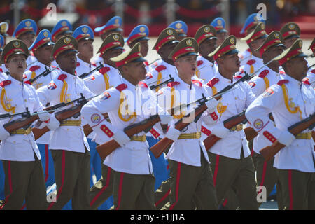 Beijing, China. 3rd September, 2015. The Cuban phalanx attends a parade in Beijing, capital of China, Sept. 3, 2015. - Stock Photo