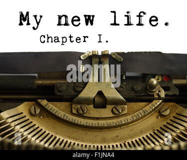 Happy new year typewriter - Stock Photo