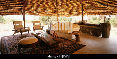 Lake Manyara Tree Lodge, United Republic of Tanzania, Africa - Stock Photo