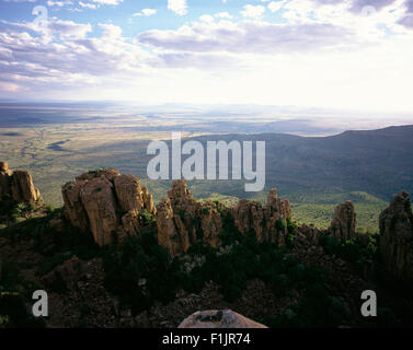 Petrified Trees Valley of Desolation Graaff Reinet, Eastern Cape, South Africa - Stock Photo