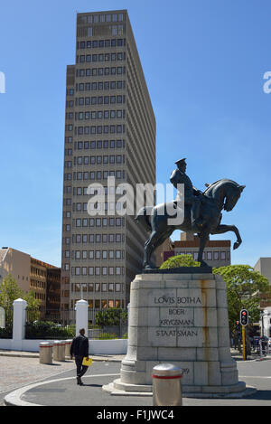Louis Botha statue outside Houses of Parliament, Plein Street, Cape Town, Western Cape Province, Republic of South - Stock Photo