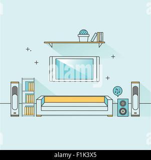 Office reception desk icon Flat design Vector illustration Stock