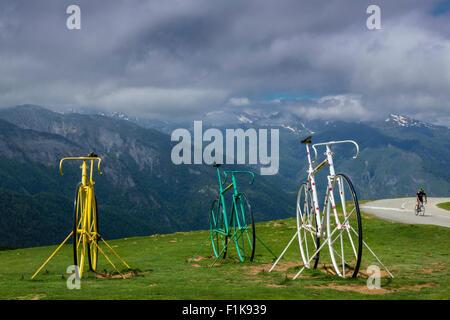 Col de l Aubisque, national park of Pyrenees, Hautes Pyrenees, France - Stock Photo