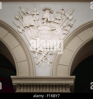 Bas-relief On Wall Of Royal Palace (Det Kongelige Slott) In Oslo, Norway - Stock Photo