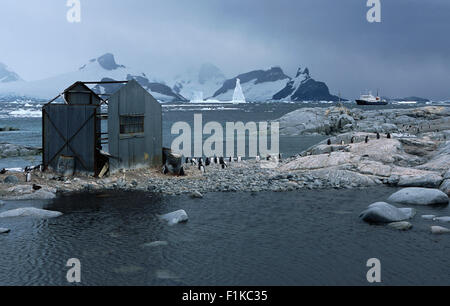 Old Whaling Station, South Georgia Island, Antarctica - Stock Photo