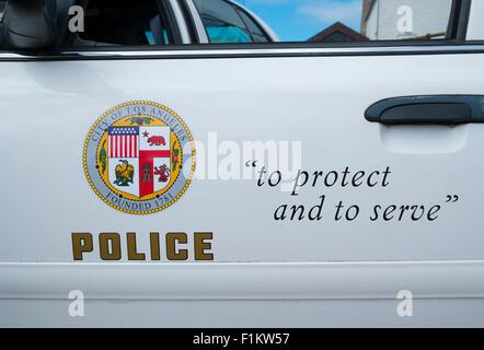 A Los Angeles police car - Stock Photo