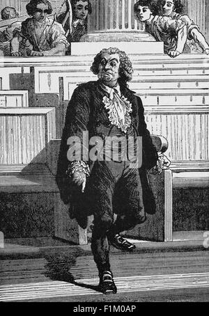 Honoré Gabriel Riqueti, Comte de Mirabeau,  French revolutionary,  writer, diplomat, freemason, journalist and French - Stock Photo