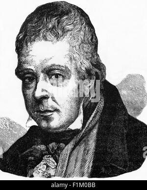 The writer, Sir Walter Scott (15 August 1771 – 1821) - Stock Photo