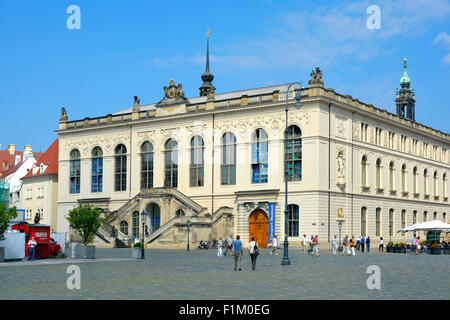 Johanneum at the Neumarkt of Dresden in Germany. - Stock Photo