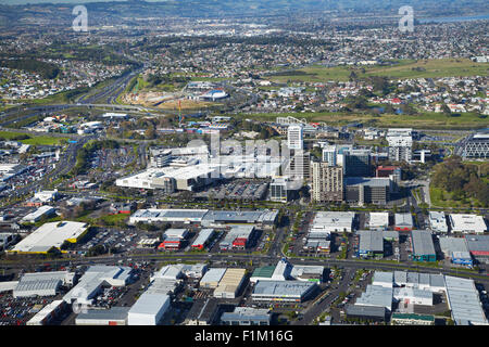 Manukau City Centre, Auckland, North Island, New Zealand - aerial - Stock Photo