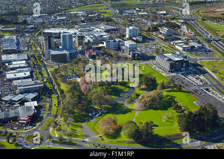 Hayman Park and Manukau City Centre, Auckland, North Island, New Zealand - aerial - Stock Photo