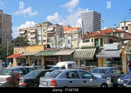 Sheshi Avni Rustemi, Tirana, Albania, Balkans, Europe - Stock Photo